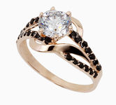 On sale Gold rings with zircon 19032023