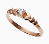 On sale Gold rings with zircon 17066662