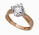 On sale Gold rings with zircon 17049351