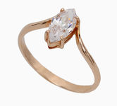 On sale Gold rings with zircon 19031989