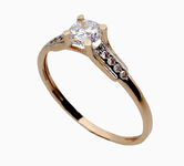 On sale Gold rings with zircon 17063487