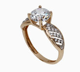 On sale Gold rings with zircon 17045186