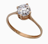 On sale Gold rings with zircon 19031842