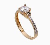 On sale Gold rings with zircon 17063630